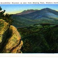 Grandfather Mountain Ridgeline Postcard