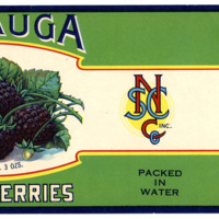 Blackberries Label From North State Canning Co.