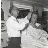 Barber Cutting Side of Customer's Hair