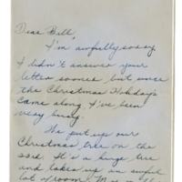 Letter, Rose Marie Mozelack to William H. Alexander, December 30, 1947