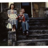Portrait On The Steps Of Edith and Jonathan Wilson Norris