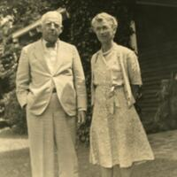 William and Carrie Whiting Leave Shulls Mill 1946