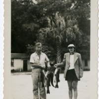 Wayne and Melissa Richardson with Fish, 1950s