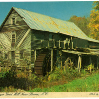 Winebarger Grist Mill Near Boone, NC, Postcard