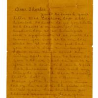 "Letter, Mrs. C. G. ""Aunt Bess"" Hodges to Charles Adams, January 20, 1942"