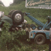 George Flowers Movie Collection #16: Fatal Truck Accident, Blowing Rock, NC, 1960s