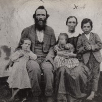 """Thomas Brown """"Bull"""" Farthing with Family, ca. 1872"""
