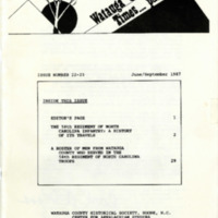 Watauga County Times Past, Issues 22 & 23, 1987