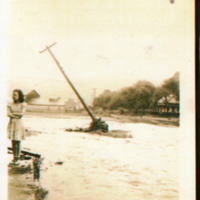 1940 Flood, Valle Crucis, NC, with Mary Farthing Mast