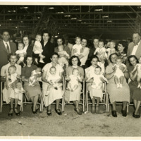 Babies and Parents at Baby Contest, 1950s