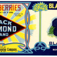 Black Diamond Blackberries Label From North State Canning Co.