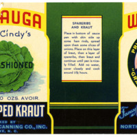10 oz. Chopped Kraut Label From North State Canning Co.