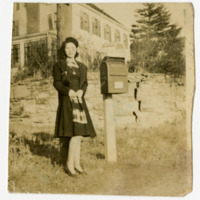 Jessie Timmons Standing in Front of the Matheson House on Grand Boulevard, Boone, NC