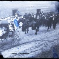 Congregation Gathers at Bethel Church, Circa 1910